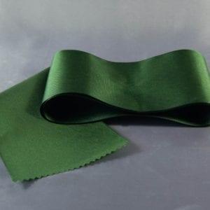 Tmavě zelená taftová šerpa