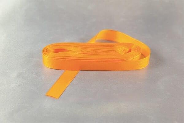 Oranžovožlutá taftová stužka